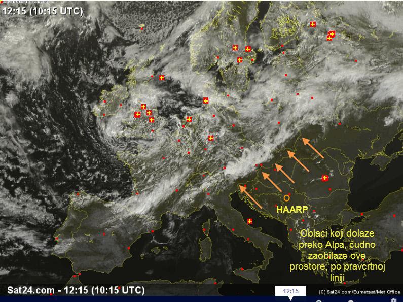 Oblaci HAARP kolovoz Balkan