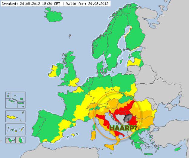 HAARP Balkan suša