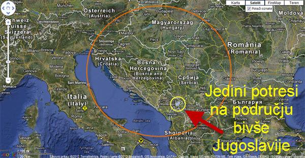 HAARP Kosovo karta