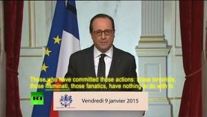 Francuski predsjednik izjavio na državnoj televiziji da Iluminati stoje iza napada u Parizu